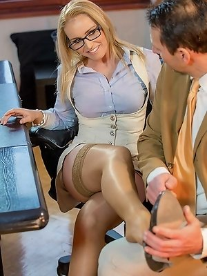 When Nick's boss wants something done, she just won't take no for an answer. Kathia Nobili brought a pair of high-heeled shoes to Nick'